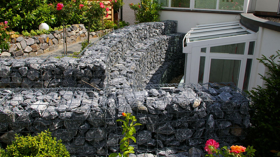 Pflaster- & Natursteinarbeiten - Gabionen